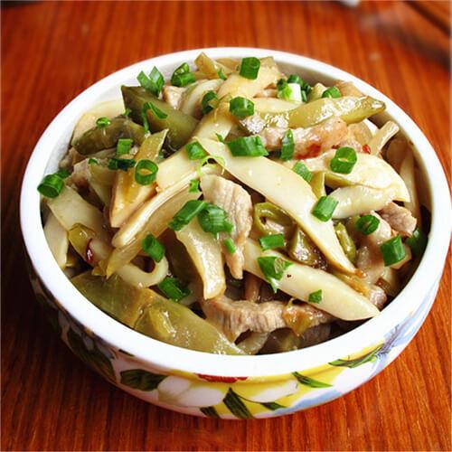 白灵菇炒肉片