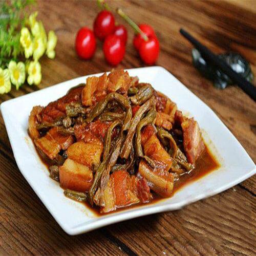 咸肉烩豇豆干