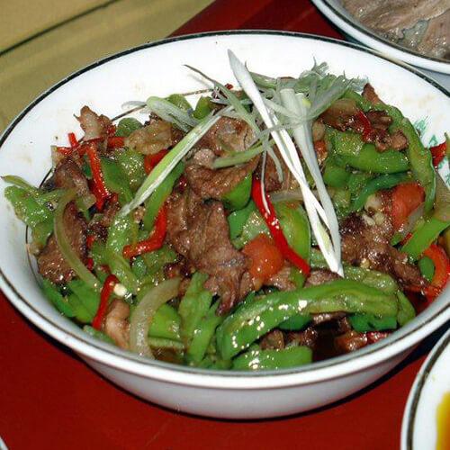 尖椒炒羊肉