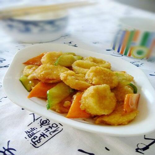 黄瓜炒脆豆腐