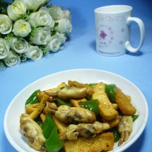 青椒蛏子烧豆腐