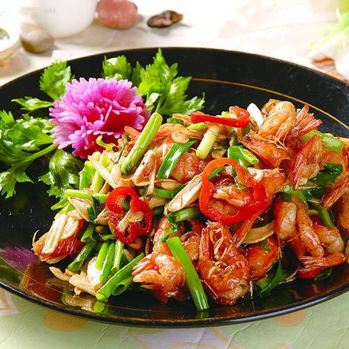 肉螺炒鲜虾