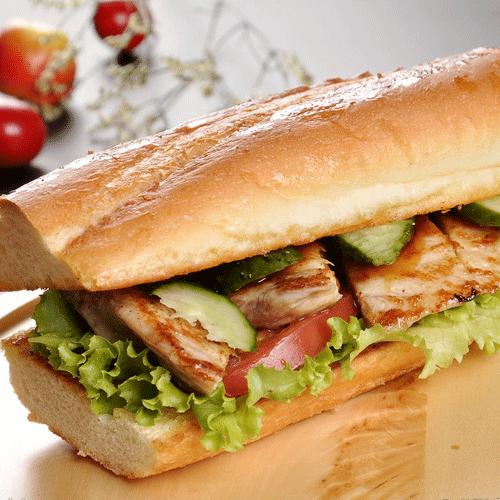 鸡肉松三明治面包