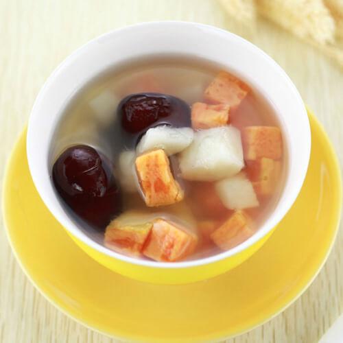 红薯汤圆甜汤