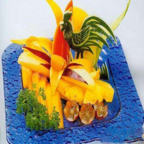 金鸡水果拼盘