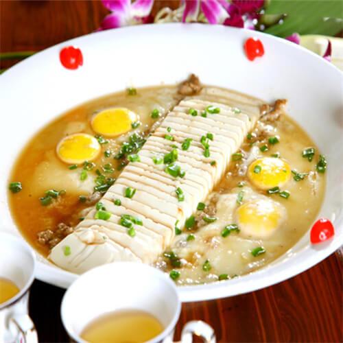 茶香蒸豆腐