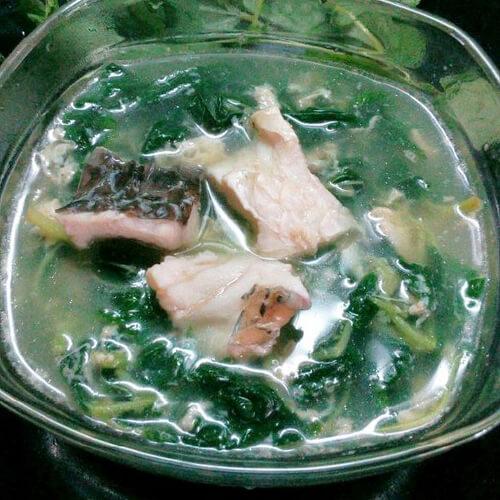 麻叶生滚鱼腩汤