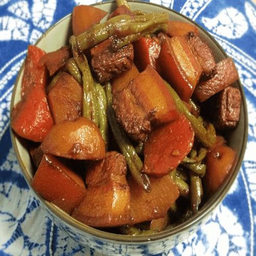 红焖豆角土豆