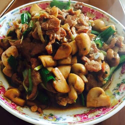 辣味蘑菇肉片