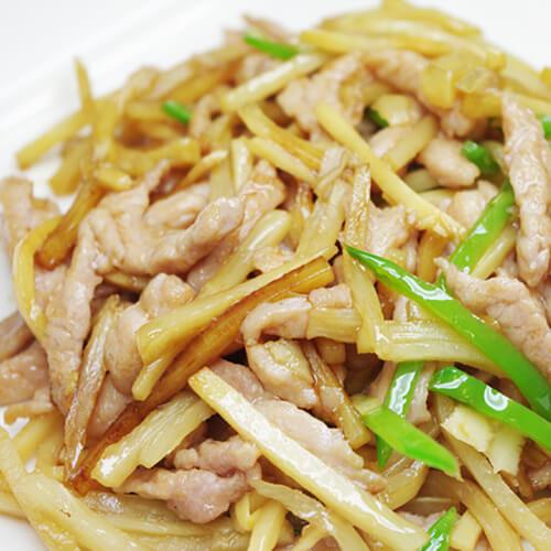 韭菜春笋猪肉小炒