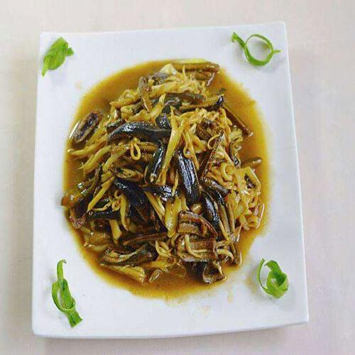 蒜香鳝鱼丝炒茭白丝