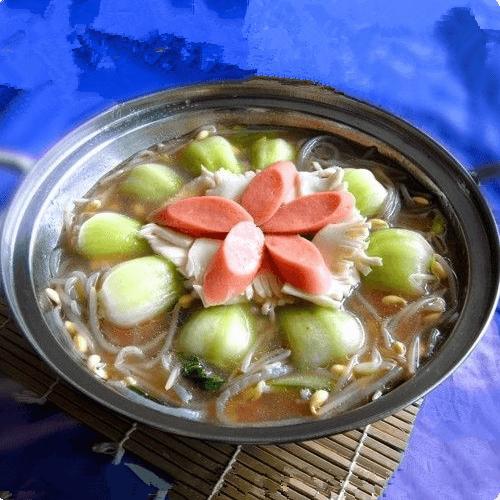 豆芽粉条魔芋锅
