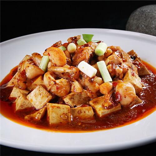 大蒜烧老豆腐