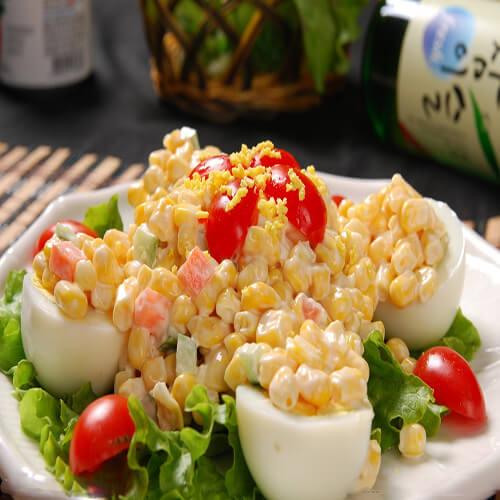 豆芽鸡蛋沙拉
