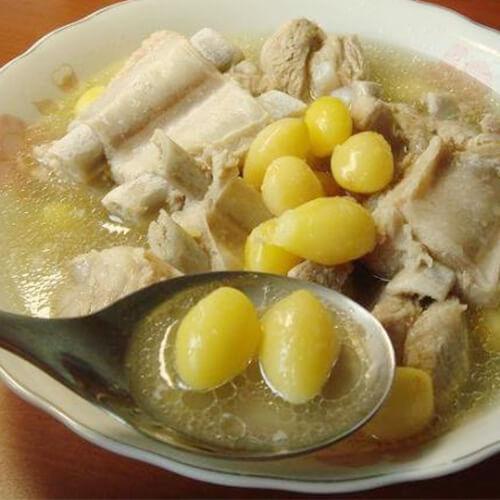 白果玉米排骨汤