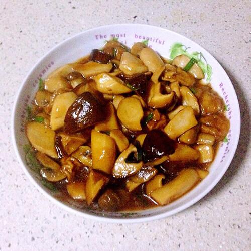 杏鲍菇炒塌菜