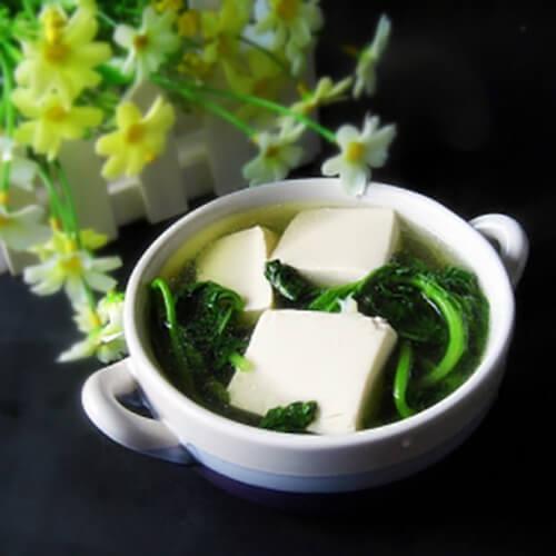 冬寒菜豆腐汤