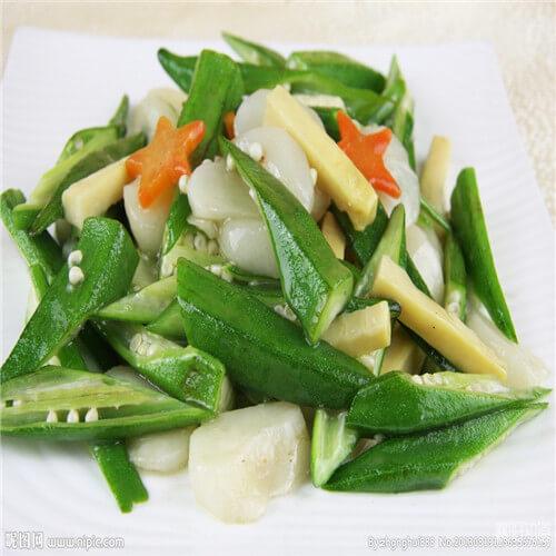 秋葵炒橄榄菜