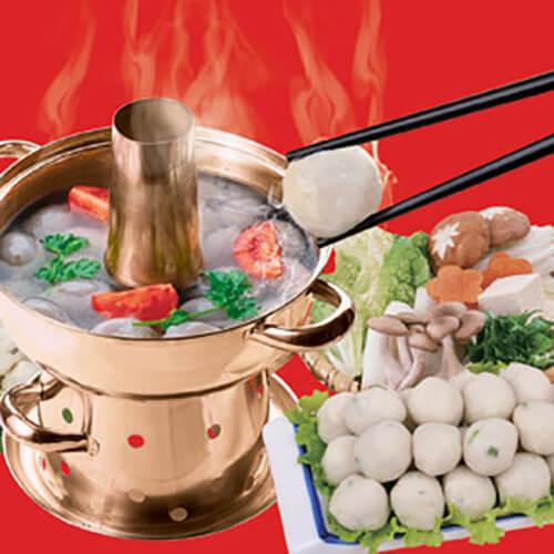 羊肉丸子什锦火锅