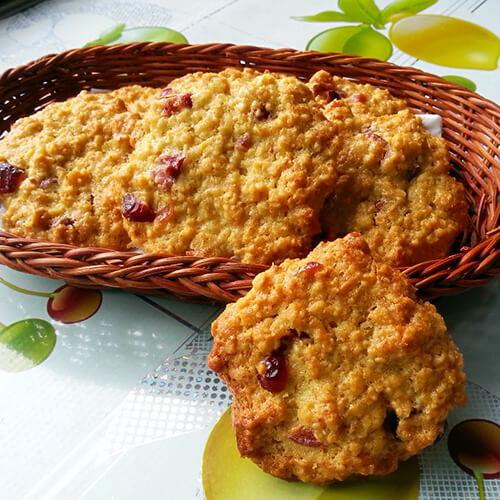 全麦燕麦蔓越莓小饼