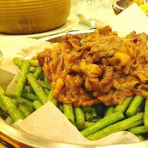 四季豆炒肥牛