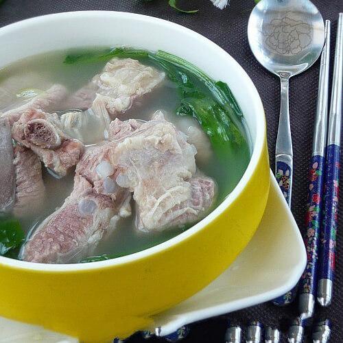 鸡毛菜肉汤