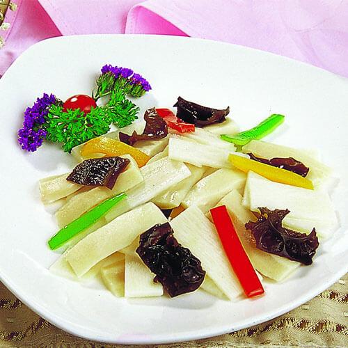 肉片炒紫山药