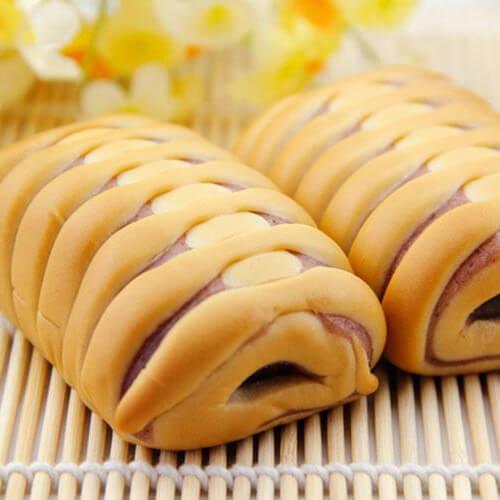 奶香紫薯面包