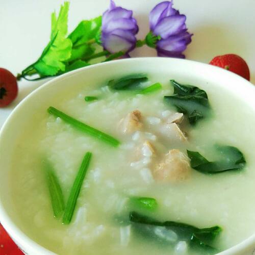 金针菇菠菜粥