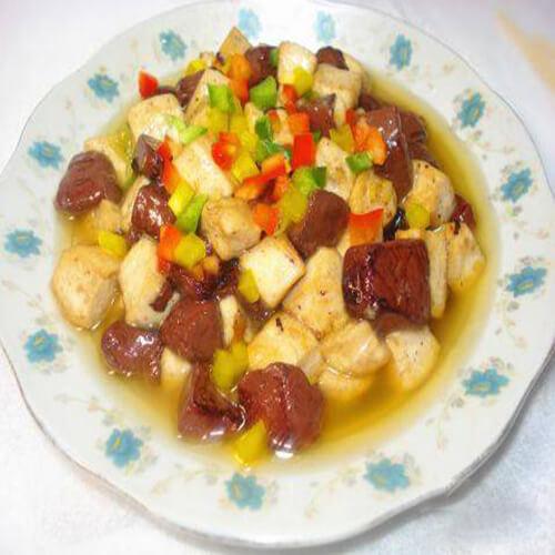 辣炒红白豆腐