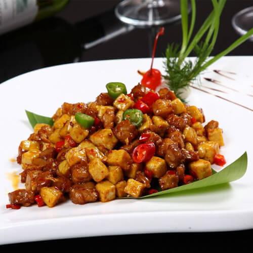 豆腐炒牛肉