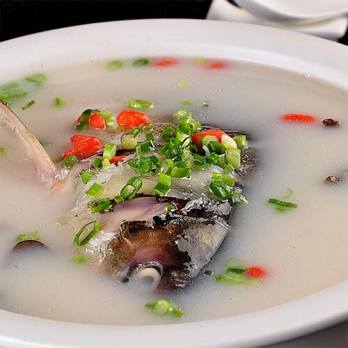 健康美食-鱼头豆腐汤