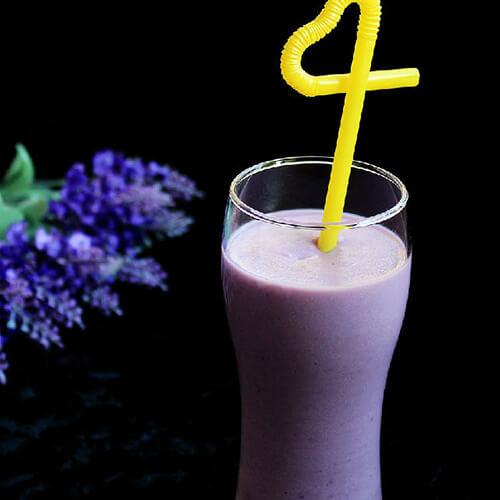 紫薯杏仁奶浆