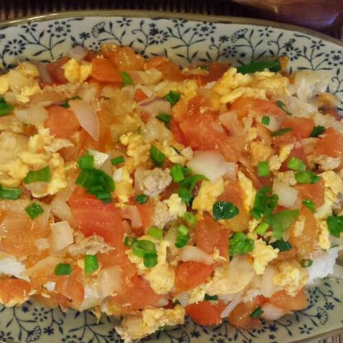 番茄猪肉炒蛋