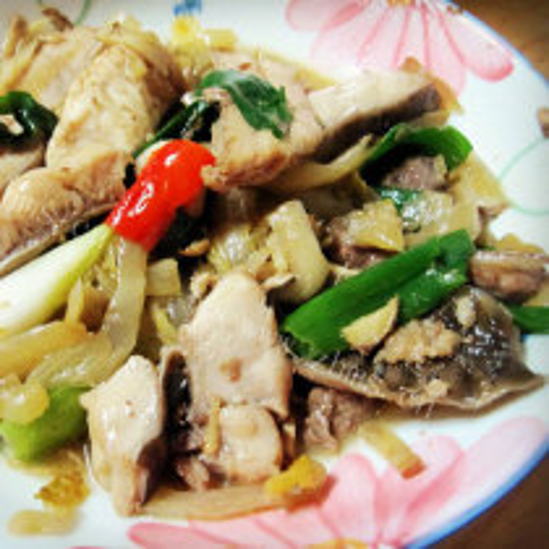 咸菜炒鲨鱼