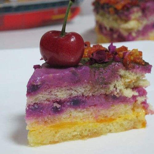 紫薯芒果蛋糕