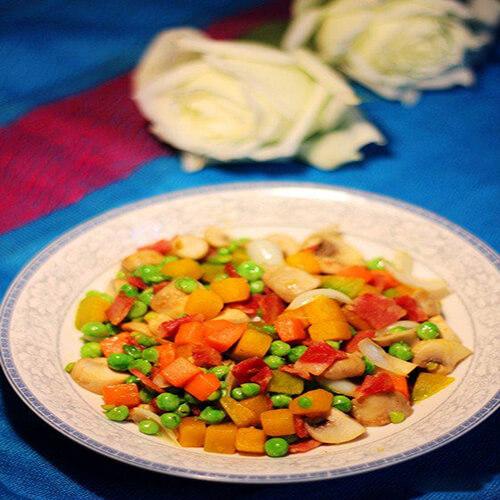 培根五色蔬菜丁