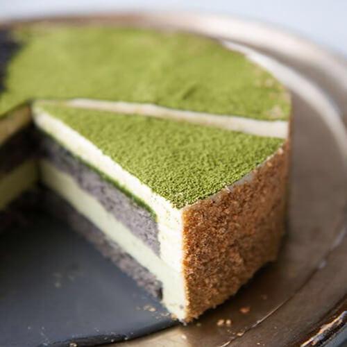 抹茶豆沙椰蓉蛋糕