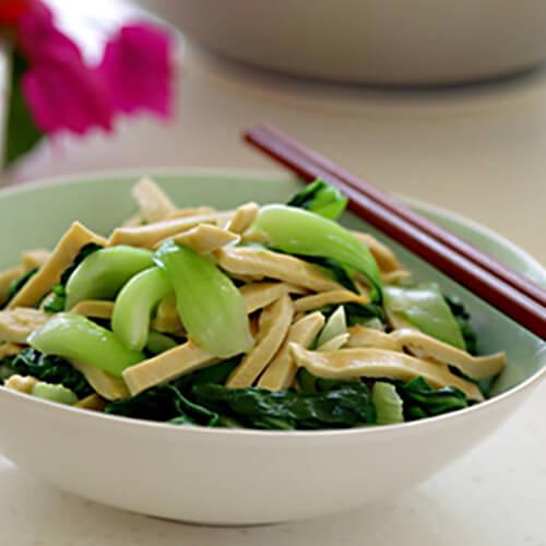 红菜苔炒豆腐干