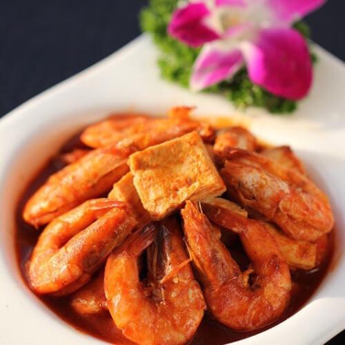 河虾炒豆腐