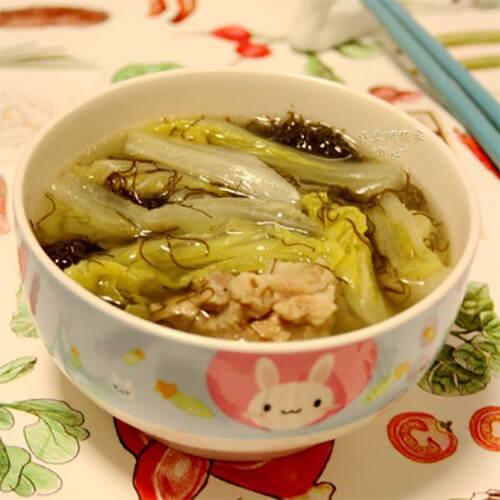 发菜白菜汤