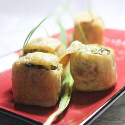 韭菜火腿酿油豆腐