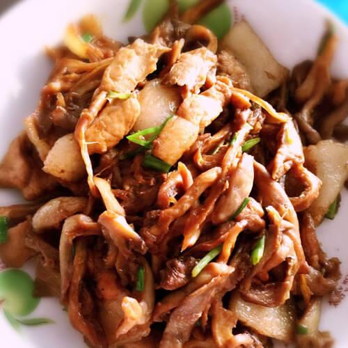 葫子炒肉片