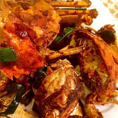 紫苏梗蒸螃蟹