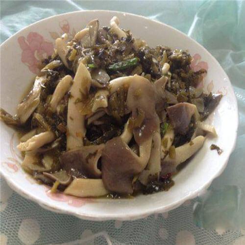 平菇炒咸菜