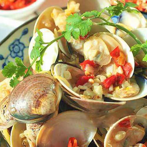 剁椒炒蛤蜊