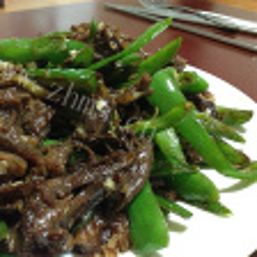 青椒炒狗肉