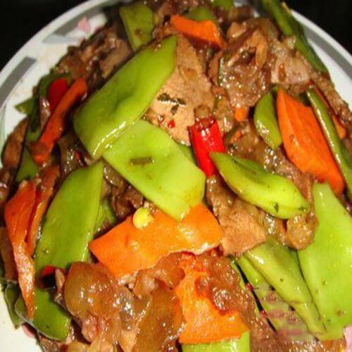 牛肉刀豆炒胡萝卜