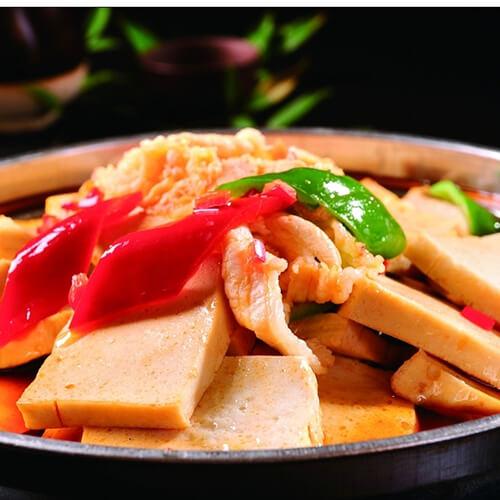 千页豆腐炒火腿