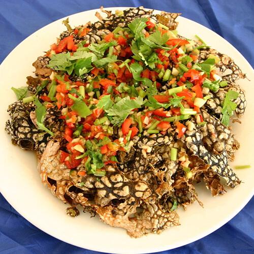 羊肚菌炒燕麦